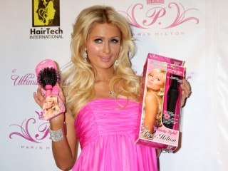 Paris Hilton & new product arriving at the Paris Hilton Beauty Line Launch Party Thompson Hotel Beverly Hills,  CA November 17, 2009 ©2009 Kathy Hutchins / Hutchins Photo