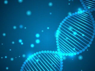 Abstract light background with DNA chain. Vector illustration.