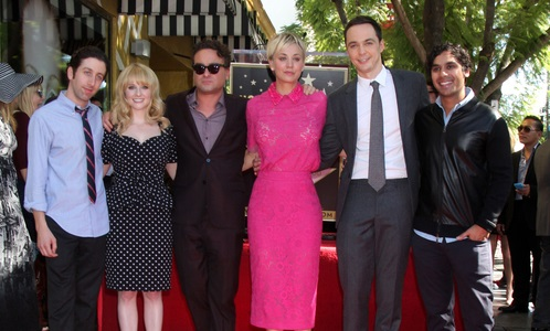 LOS ANGELES - OCT 29:  Simon Helberg, Melissa Rausch, Johnny Galecki, Kaley Cuoco, Jim Parsons, Kunal Nayyar at the Kaley Cuoco Star on the Hollywood Walk of Fame at the Hollywood Blvd on October 29, 2014 in Los Angeles, CA